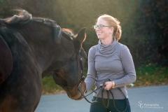 Steffi und ihre Holsteiner